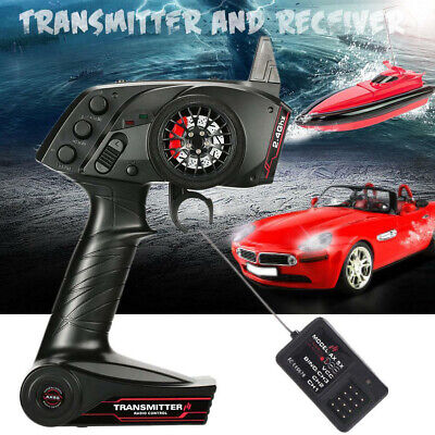 UK AUSTAR 2.4G 3CH AFHS Radio Remote Control Transmitter With Receiver RC Car • 22.99£