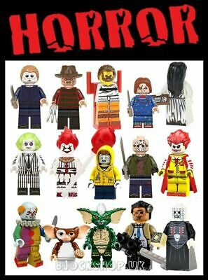 HORROR MOVIE FIGURES - FREDDY , JASON , CHUCKY , IT ETC - Fits Lego Blocks • 2.99£