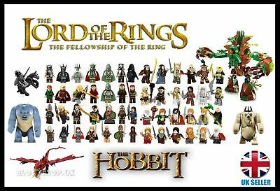 LORD OF THE RINGS / HOBBIT HEROS & ORCS + FULL BATTLE SETS - Fits Lego Figure • 19.99£