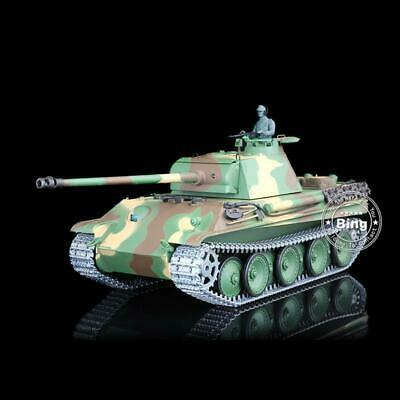 UK Stock 6.0 Upgraded Ver 3879 Metal Track German Panther G HL 1/16 RTR RC Tank • 189.99£