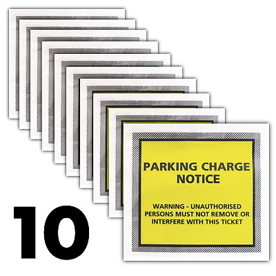 10 X Genuine Joke Parking Enforcement Ticket Sticker Envelopes - FUNNY / JOKE • 1.60£