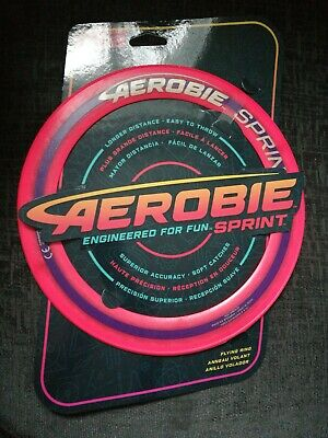 Aerobie 10  Sprint Ring Flying Disc Outdoor Frisbee Toy Game Orange • 9.60£