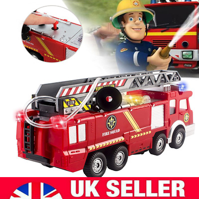 Toys For Kids Fire Engine Truck Toy With Light Sound Fire Safety Cars Boy Gift • 12.99£