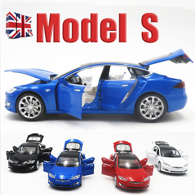1:32 Scale Tesla Model S 100D Diecast Model Car Toy Sound&Light Collection Gift • 13.89£