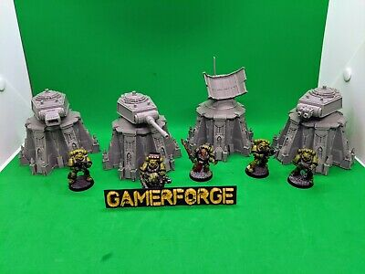 4 X Defence Turret Weapons Terrain Set For 40k Killteam Scenery Tabletop Wargame • 19.99£