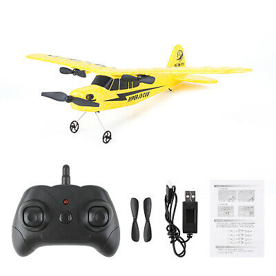 2.4G Radio Remote Control Airplane Piper J3 Cub RC Plane Beginner Glider • 25.95£