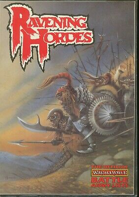 RAVENING HORDES Official Warhammer Battle Army List  (Games Workshop 1987) • 40£