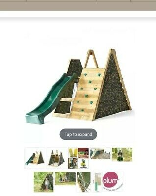 Wooden Climbing Unit , Pyramid Slide • 270£