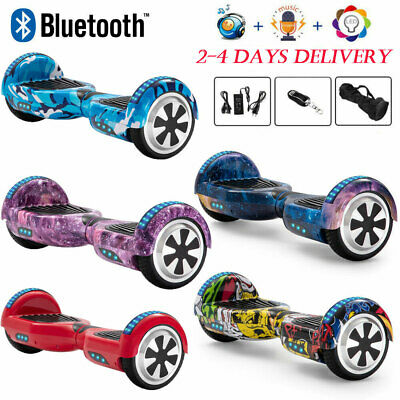 Hoverboard 6.5  Electric Scooters Bluetooth Self Balance Board LED Wheels Lights • 128£