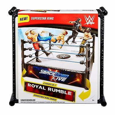 WWE SmackDown Live & Royal Rumble Superstar Wrestling Ring NEW • 22.99£