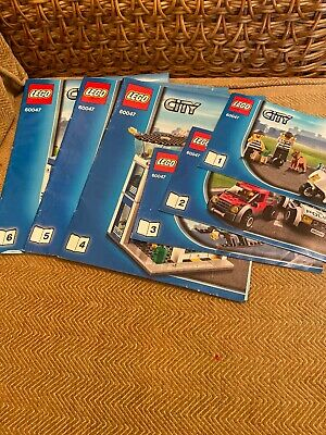 Lego City 60047 Police Station Instructions Manuals Only Books 1 2 3 4 5 6 (b15) • 4.99£