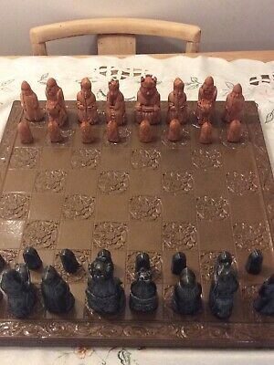 Isle Of Lewis Chess Set 18 Inch Board • 25£