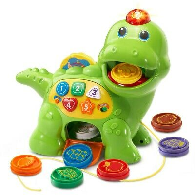 Vtech Baby Feed Me Dino Musical Toy With Numbers, Counting Music And Shapes New • 20.99£