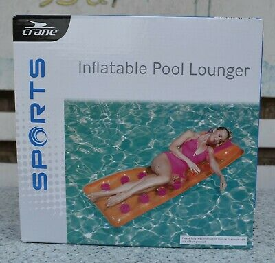 Inflatable Pocket Fashion Designer Lounger Lilo Float Swimming Pool Air Bed Mat • 9.98£