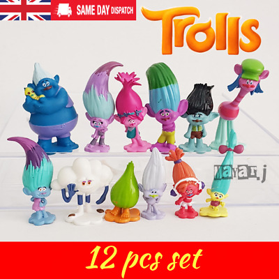 12Pcs Trolls Movie Poppy Branch Action Figures Cake Toppers Doll Toy Gifts • 6.89£