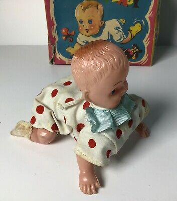 Vintage Crawling Baby Mechanical Boxed • 19.99£