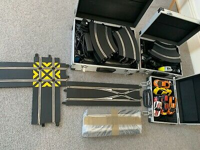 Scalextric Digital Set Used - 50+ Track Pieces - 5 Cars - 4 Controllers • 56£