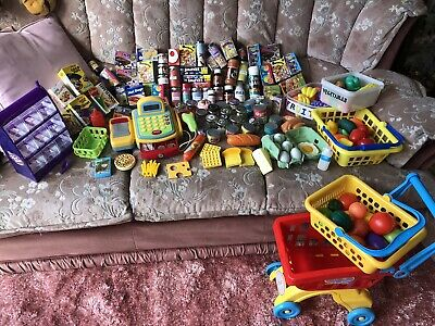 Toy Shop - Shopping Trolley, Baskets, Till/Cash Register, Food Items, Pick N Mix • 35£