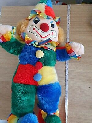 Large 25  Vintage Cuddle Wit Plush Rainbow Circus Clown • 23.50£