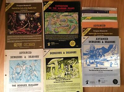 Dungeons And Dragons Advanced Module N1,S3,B1 Plus More Extras Bits • 2.20£