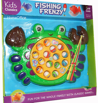 Fishy Frenzy Kids Fishing Family Game Hook & Catch The Fish New • 10.45£