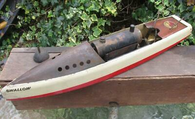 Beautiful1920s Hobbies Bowman Steam Boat Swallow All Original Burner Box Etc • 375£