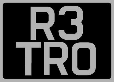 1/24th Scale Personalised Retro Number Plates Diorama • 3.50£