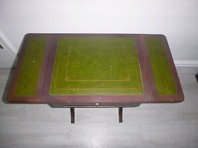 Vintage Games / Card Table With Foldout Top & 2 Draws • 19.99£