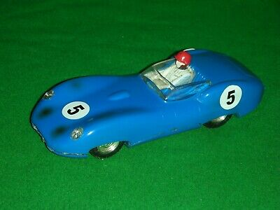 TRIANG SCALEXTRIC 1960s LISTER JAGUAR WITH FRONT LIGHTS RUNS & LOOKS GREAT • 20£