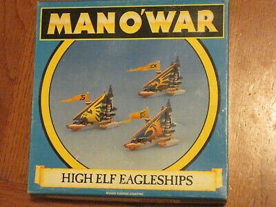 Warhammer Man O' War High Elf Eagleships Retired Boxed • 35£