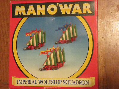 Warhammer Man O' War Imperial Wolfship Squadron Retired Boxed • 35£