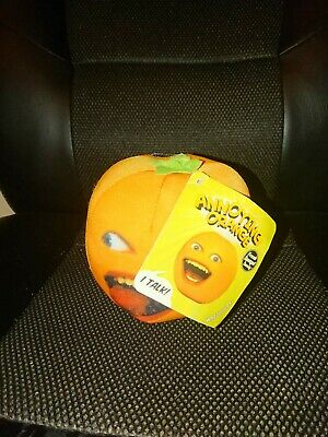 Annoying Orange Soft Toy Beanie Makes Noises And Sounds When Pressed  • 5£
