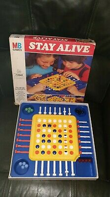 Vintage MB Games Stay Alive Board Game 1975 Edition • 2.80£