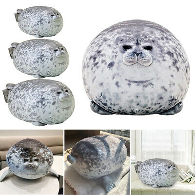 Chubby Blob Seal Plush Toy Animal Cute Ocean Pillow Pet Stuffed Doll KidsGift UK • 18.95£