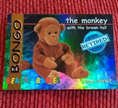 BONGO (BLUE) Ty Beanie Baby/Babies Collector's Club Trading Card Series 1, 1998 • 4.99£