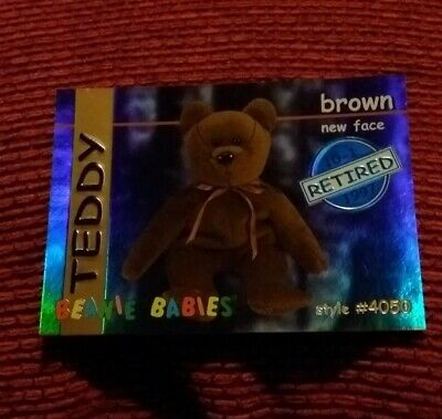 TEDDY (BLUE) Ty Beanie Baby/Babies Collector's Club Trading Card Series 1, 1998 • 4.99£