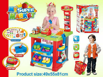 Pretend Play Supermarket Play Set Cash Register With Light & Sound Toy For Kids • 34.99£