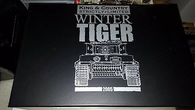 King And Country Ww2 Ws70 German Winter Tiger Mib • 520£