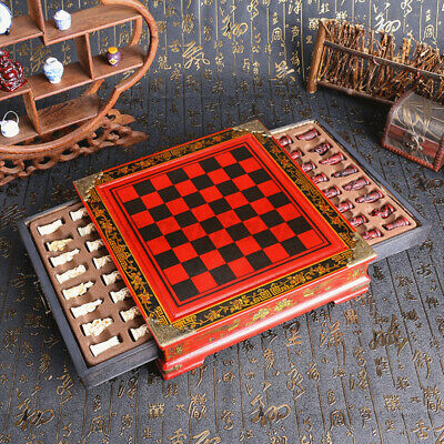 32Pcs Vintage Contemporary Chinese Chess Resin + Wooden Table Set Kids Game Gift • 33.04£