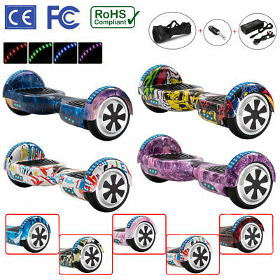 Hoverboard 6.5  Electric Scooters Bluetooth LED 2 Wheels Lights Balance Board • 125£