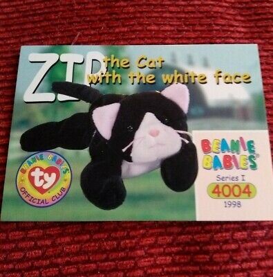 ZIP Ty Beanie Baby/Babies Collector's Club Trading Card Series 1, (1998) BBOC  • 0.75£