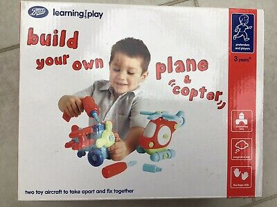 Boots Build Your Own Plane & Copter, Aged 3+ • 4.50£