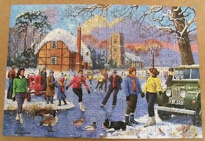 GIBSONs 500 PIECE PUZZLE SKATING ON THE LAKE BY KEVIN WALSH  • 6.99£