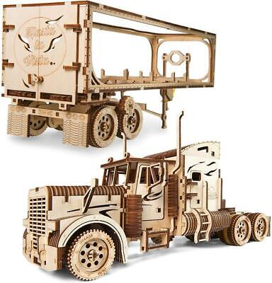 UGEARS Mechanical Wooden Model Kit. HEAVY BOY TRUCK Or TRAILER • 53£
