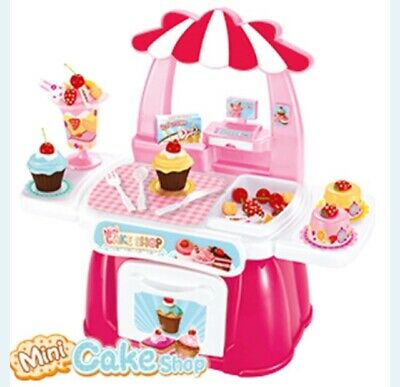Mini Cake Ice Cream Dessert Shop Toy Play Set Role Play Pretend Food • 19.99£