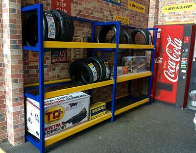 1/18 Scale Double Tyre Rack For Garage Diorama With Free Choice Of Colours • 25£