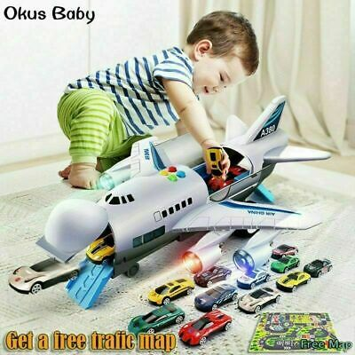 Childrens Toy Aircraft Large Size Passenger Plane Kids Air Freighter Toy Car UK • 21.99£