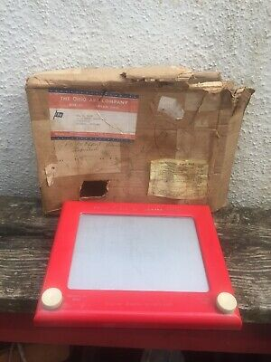 Vintage Ohio Arts Etch A Sketch Magic Screen Model 505 - 1960s US IMPORTS • 18.95£