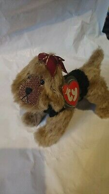 Vintage Ty KAISER Brown Dog With Cute Sweater 2001 Jointed Attic Treasure • 8.99£