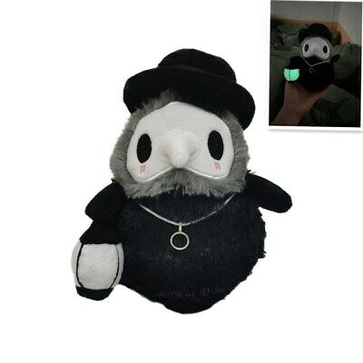 Halloween Plush Toys Props Hand GLOW IN DARK Plague Doctor Soft Plush Doll 20cm • 6.59£